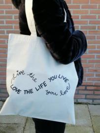 Katoenen tas- Love Life
