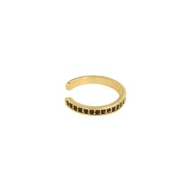 Ear cuff- Naomi 'goud & zwart'