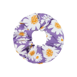 Scrunchie- Daisy Flowers 'paars'