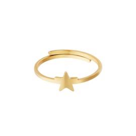 Ring- Star 'goud' verstelbaar