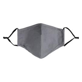 Mondkapje- Effen 'grijs'