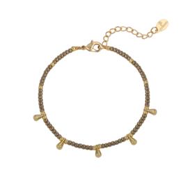 Armband- Drops 'vintage goud'