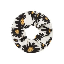 Scrunchie- Daisy Flowers 'wit'