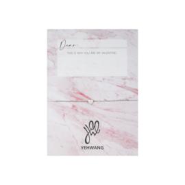 Valentijns kaart- Love Heart 'armband zilver'