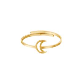 Ring- Moon 'goud' verstelbaar