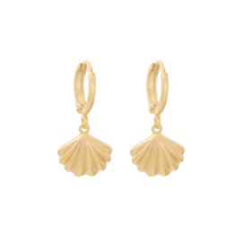 Oorbellen- Shell 'goud'