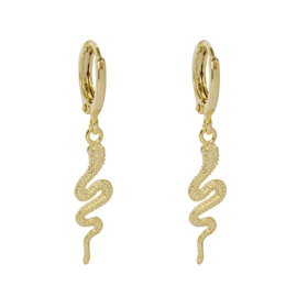 Oorbellen- Snake 'goud'