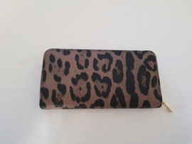 Portemonnee- Leopard 'bruin'