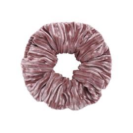 Scrunchie- Crushed Velvet 'roze'