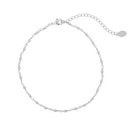 Enkelbandje- Dots Line 'zilver'