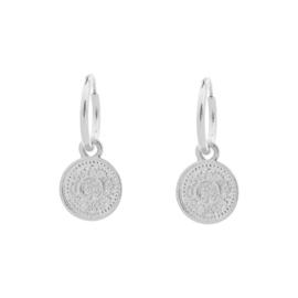 Oorbellen- Lucky Coin 'zilver'