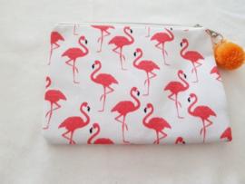 Make-up tasje- Flamingo