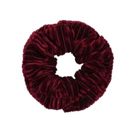 Scrunchie- Crushed Velvet 'rood'