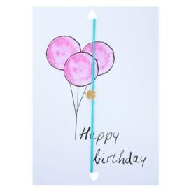 Wenskaart- Happy Birthday 'groen'