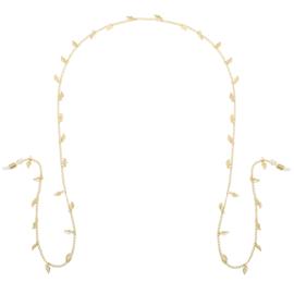 Zonnebril koord- Happy Leaf 'goud'