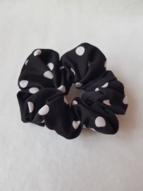Scrunchie- Dots 'zwart'