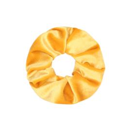 Scrunchie- Velvet 'geel'