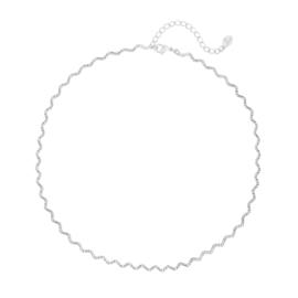 Ketting- Twirl wave 'zilver'