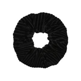 Scrunchie- Crushed Velvet 'zwart'