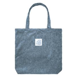 Tote Bag- Corduroy 'blauwgrijs'