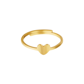 Ring- Heart 'goud' verstelbaar
