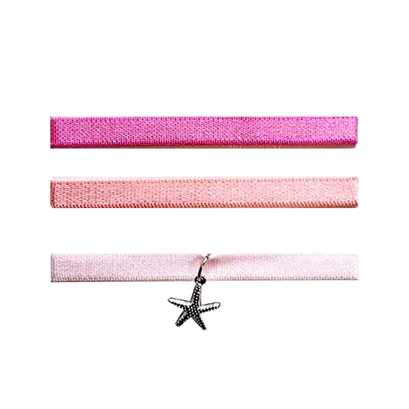 Bandjes- Starfish 'roze'