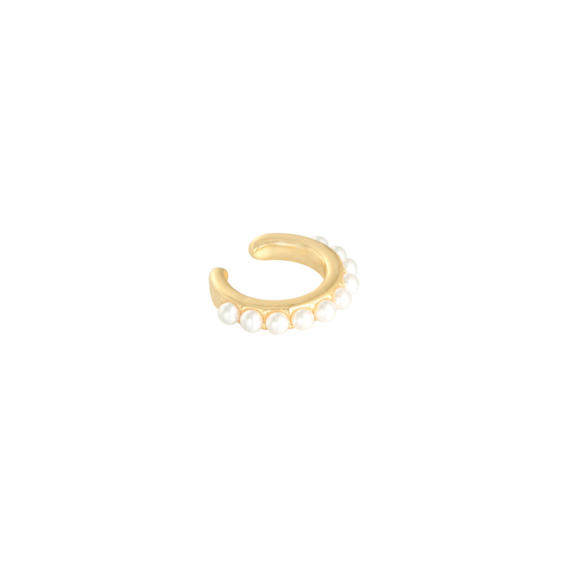 Ear cuff- Pearly 'goud'