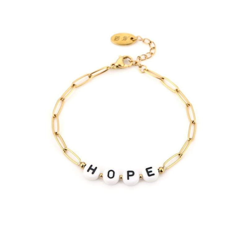 Armband- Hope 'goud'