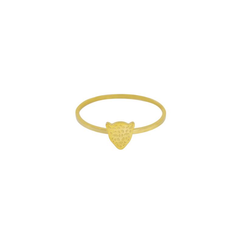 Ring- Tiger 'goud' maat 17