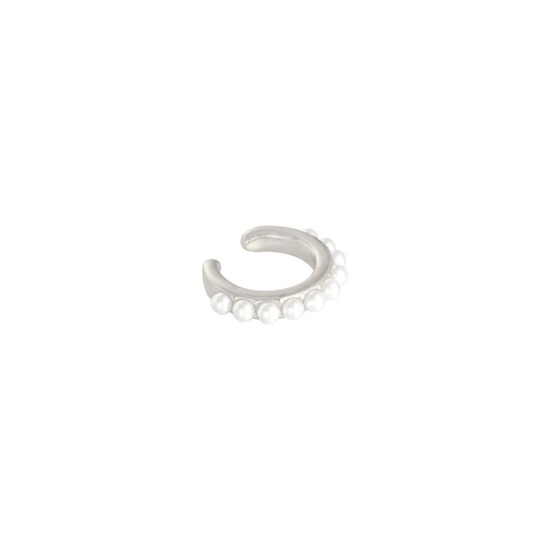 Ear cuff- Pearly 'zilver'