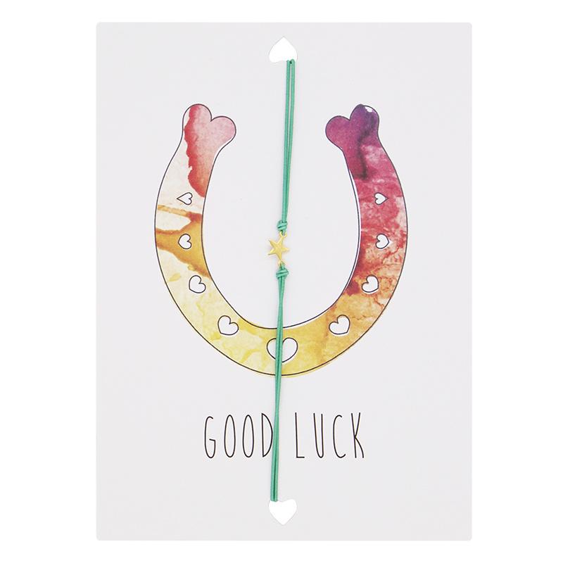 Wenskaart- Good luck 'groen'