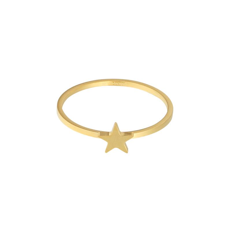 Ring- Ster 'goud' maat 17