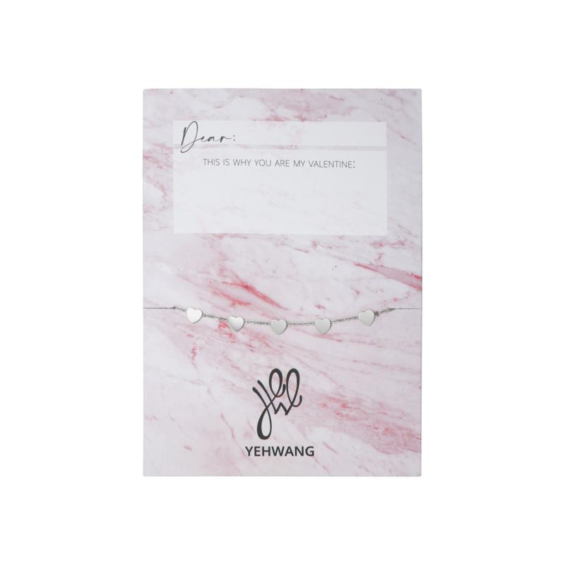 Valentijns kaart- More Hearts 'armband zilver'