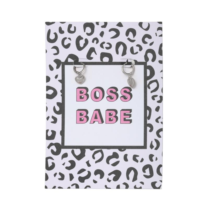 Sieradenkaart- Boss Babe 'zilver'