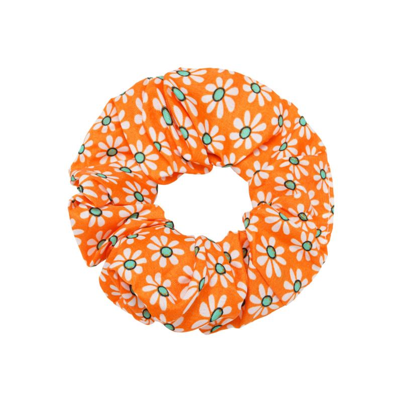 Scrunchie- Flora Colors 'oranje'