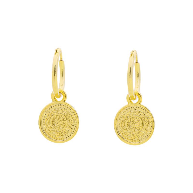 Oorbellen- Lucky Coin 'goud'