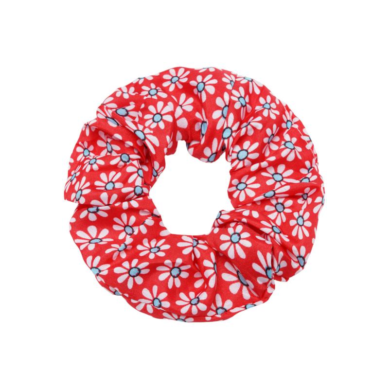 Scrunchie- Flora Colors 'rood'