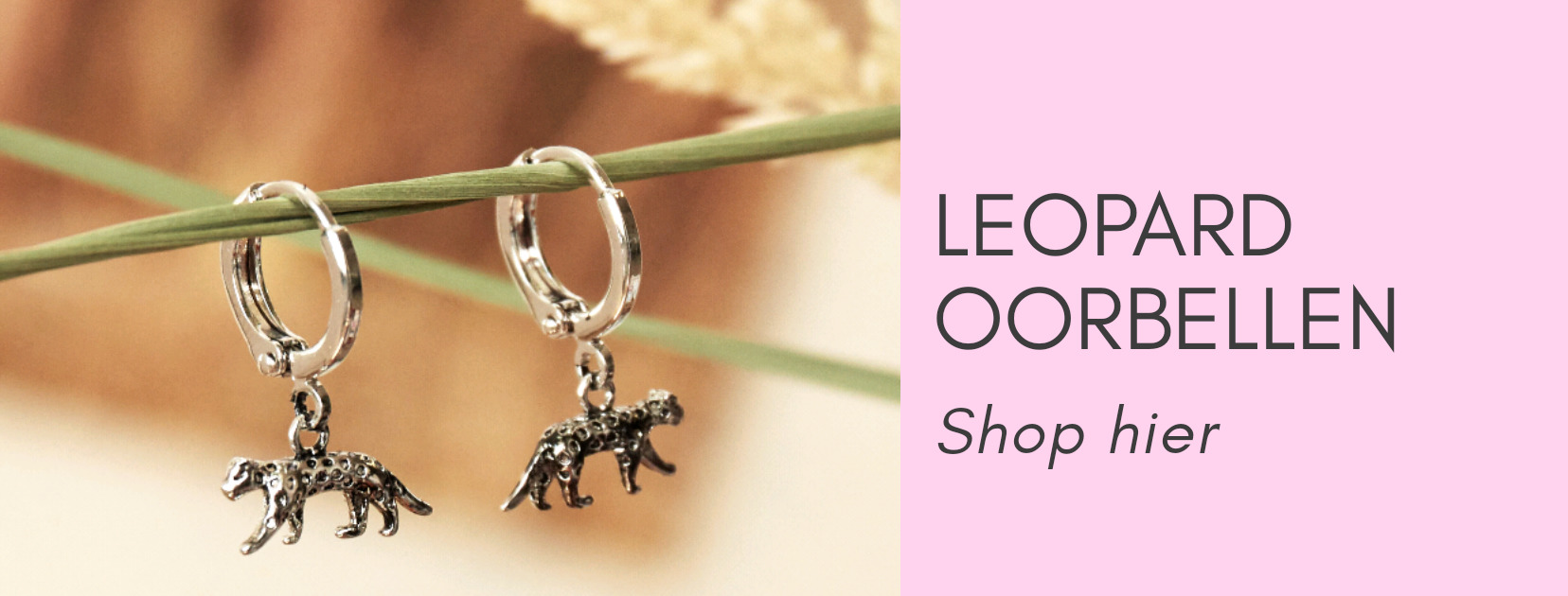 Leopard oorbellen