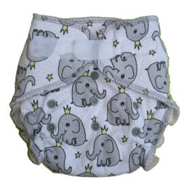 Fluffy Nature Bamboo Onesize Velcro - Elephant