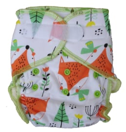 Fluffy Nature Bamboo Onesize velcro - Foxes