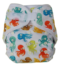 Fluffy Nature Onesize overbroekje (klittenband) (3,5-15kg) - Colorful Octopus