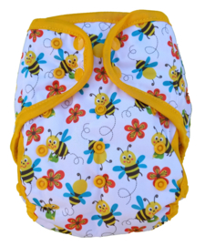 Fluffy Nature cover Onesize (snaps) (3,5-15kg) - Bees