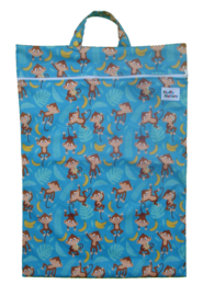 Fluffy Nature wetbag XL - Blue Monkey