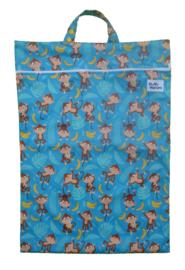 Fluffy Nature wetbag XL - Blue Monkey