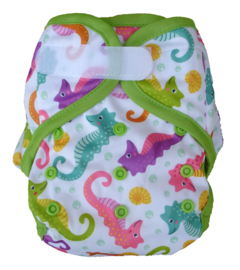 Fluffy Nature cover Onesize (velcro) (3,5-15kg) - Seahorses
