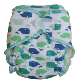 Fluffy Nature Bamboo Size S - Whales