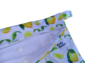Fluffy Nature Wetbag with Mesh Bag - Citrus