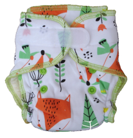 Fluffy Nature Bamboo Size S - Foxes