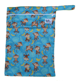 Fluffy Nature Wetbag - Blue Monkey