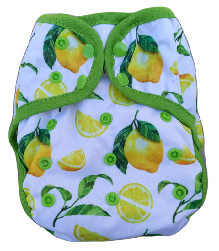 Fluffy Nature cover Onesize (snaps) (3,5-15kg) - Citrus